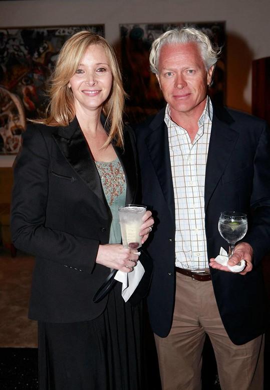Herečka s manželem Michelem Sternem, kterého si vzala před 26 lety.