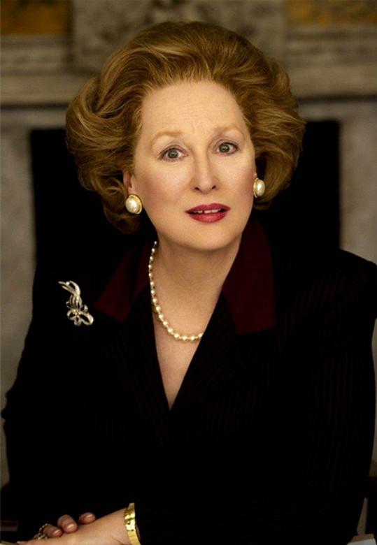 Meryl Streep jako Margaret Thatcher ve filmu Železná lady (2011)