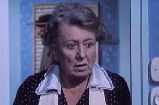 Valentová ve filmu Dívka na koštěti (1971), který byl jejím posledním.