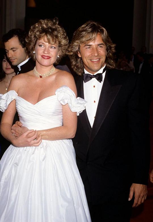 S Donem Johnsonem, kterého si za manžela vzala hned dvakrát, na předávání Oscarů v roce 1989.