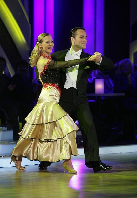 Lenka Filipová a Michael Petr spolu soutěžili ve StarDance v roce 2007.