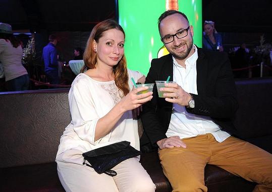 Gabriela Míčová s manželem.