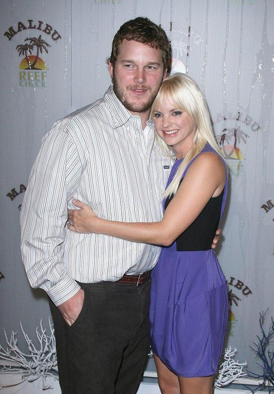 Chris Pratt s manželkou Annou Faris v roce 2009