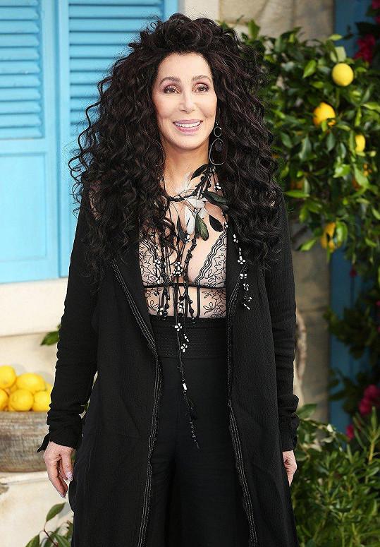 Cher na sebe na premiéře strhla veškerou pozornost.