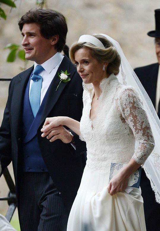 Nevěsta Sophie Carter s manželem Robertem Suggsem