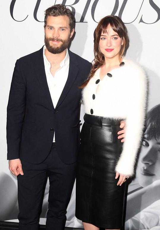 Dakota s Jamiem před pár dny v New Yorku na předpremiérovém promítání pro fanoušky.
