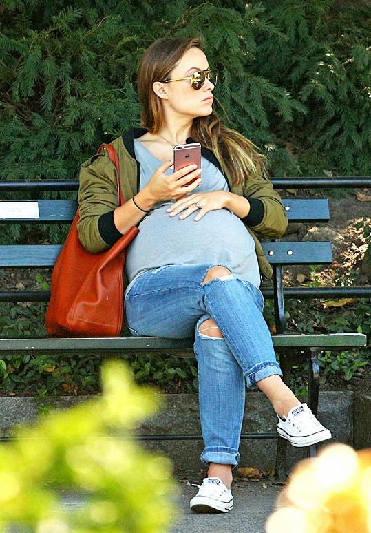 Olivia Wilde pár dnů před porodem