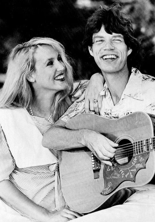 Jerry Hall s Mickem Jaggerem v roce 1983