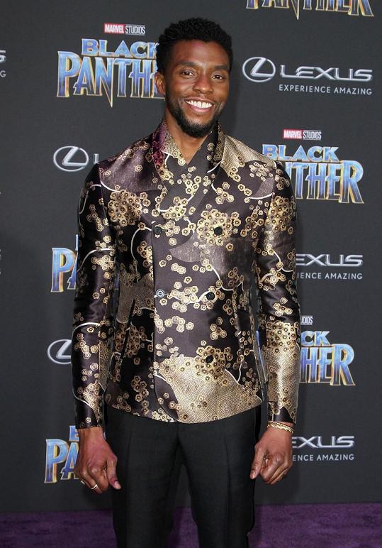 Chadwick Boseman od roku 2016 bojoval s rakovinou tlustého střeva.