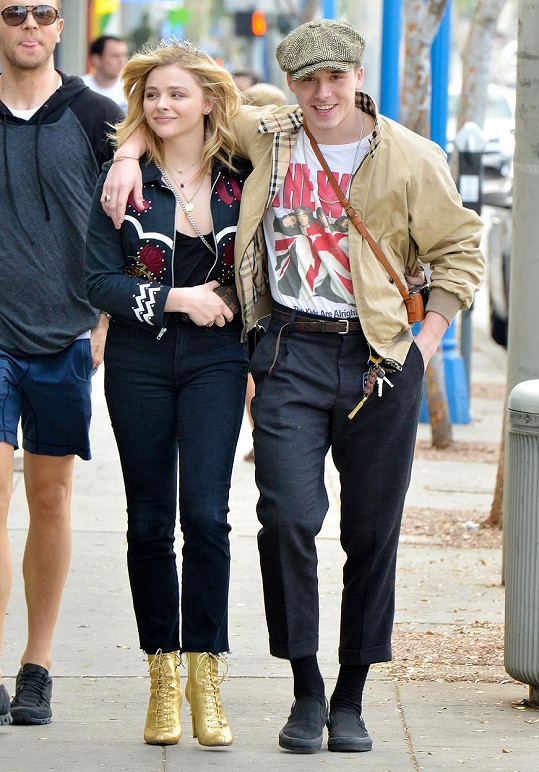 S herečkou Chloë Moretz to Brooklyn dával dohromady několikrát, tady to chvílemi vypadalo na velkou lásku.