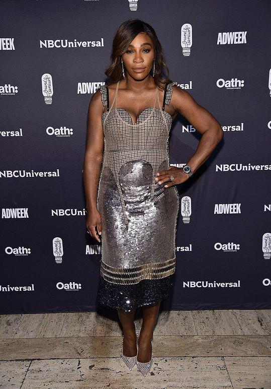 Na předních příčkách se drží i tenistka a návrhářka Serena Williams.