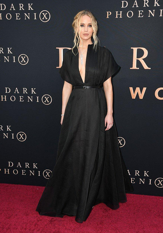 Jennifer Lawrence na premiéře X-men: Dark Phoenix.