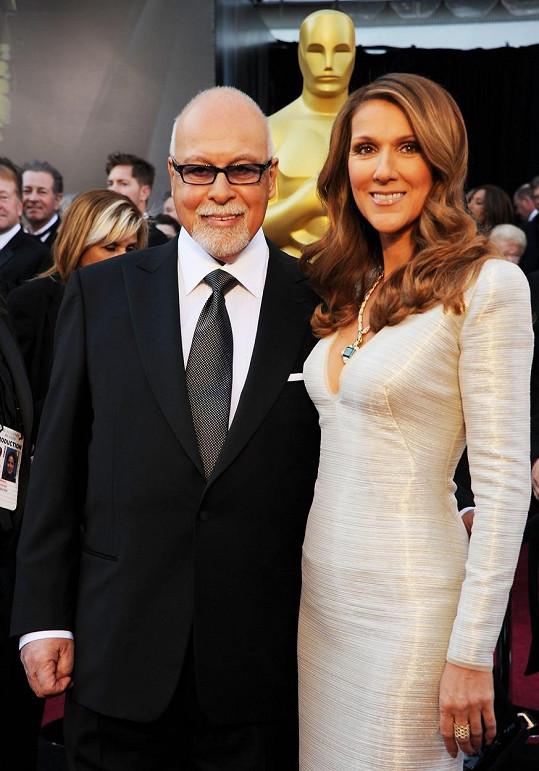 Dion s manželem na předávání Oscarů v roce 2011