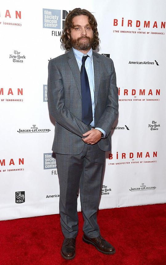 Galifianakis na premiéře filmu Birdman