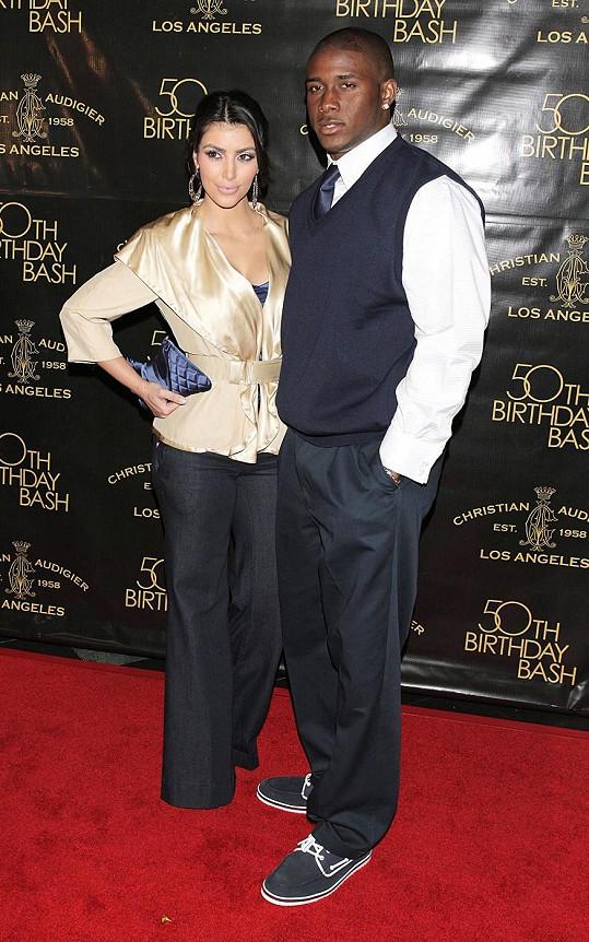 Kim Kardashian s expřítelem Reggie Bushem.