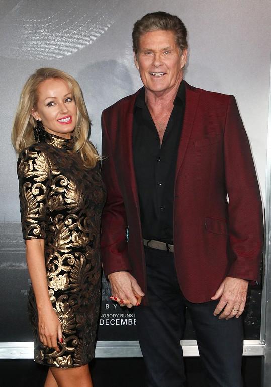 Hayley Roberts s manželem Davidem Hasselhoffem