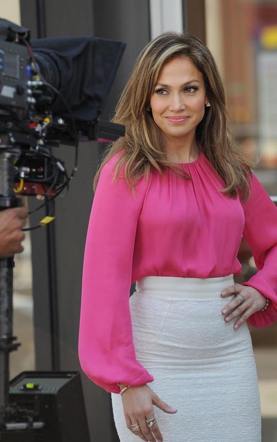 Jennifer Lopez natáčela reklamu v Brooklynu.