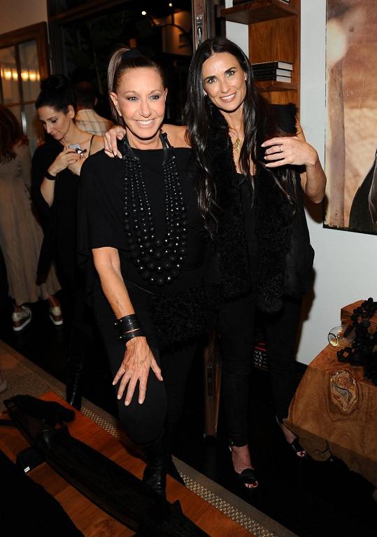 Demi Moore zapózovala s Donnou Karan.