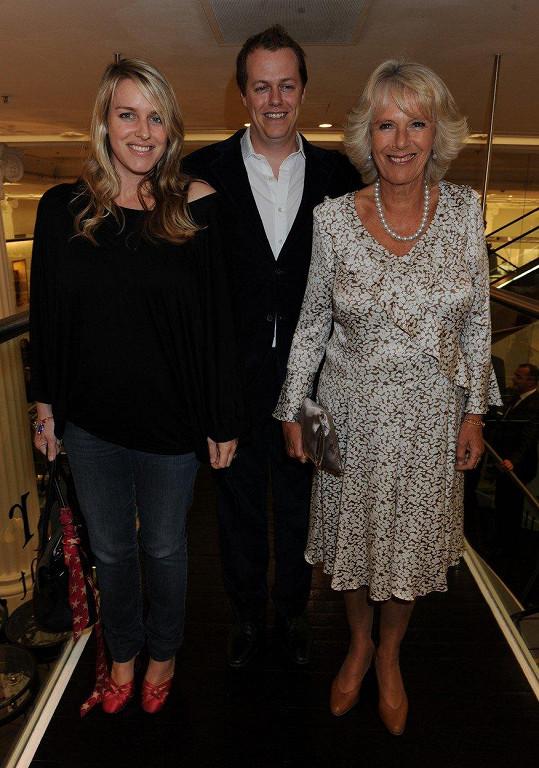 Vévodkyně Camilla se synem Tomem a dcerou Laurou