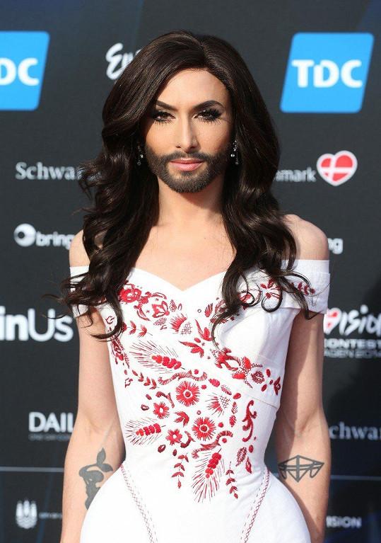 Conchita Wurst v roce 2014 zvítězila v Eurovizi.