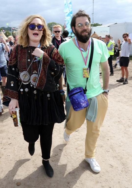 Adele s manželem Simonem