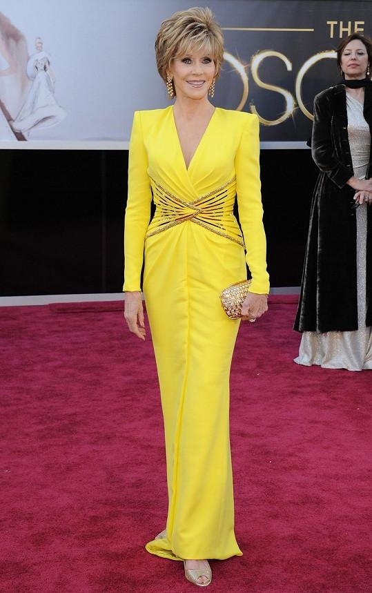 Jane Fonda minulý týden na slavnostním předávání Oscarů.