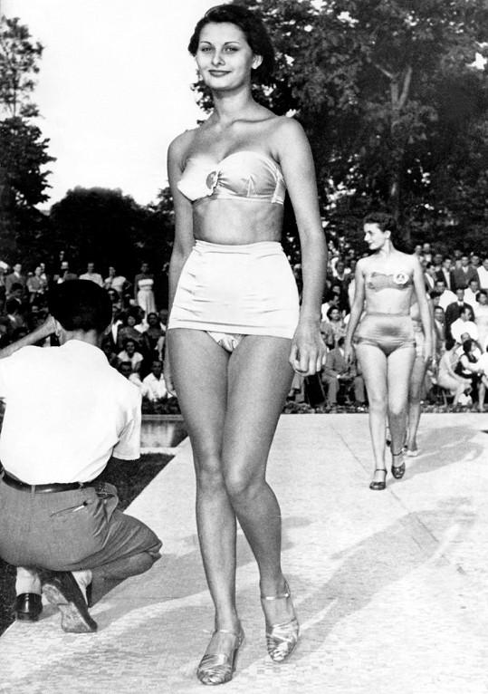 Sophia Loren v roce 1950 na soutěži krásy