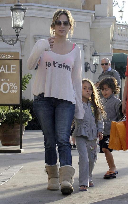 J.Lo se svými dětmi v Los Angeles.
