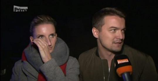 Adela Banášová s přítelem Viktorem