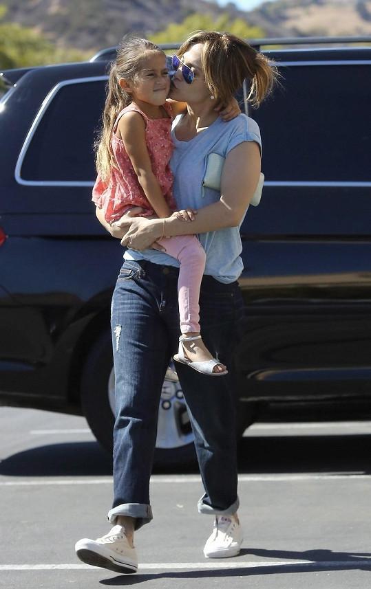 Lopez trávila den s dcerou Emmou.
