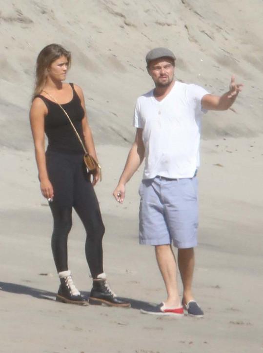 Agdal s přítelem Leem DiCapriem před pár dny v Malibu