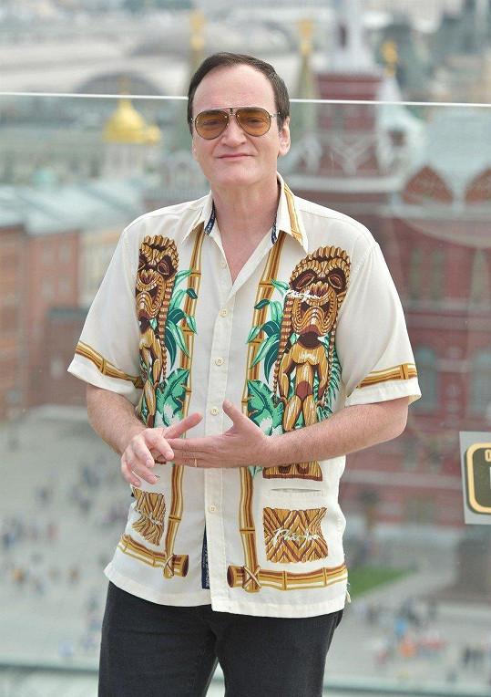 """Quentin Tarantino v Moskvě řekl, že Bruce Lee byl """"docela arogantní týpek""""."""