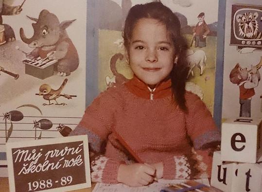 Kristýna Janáčková jako malá školačka