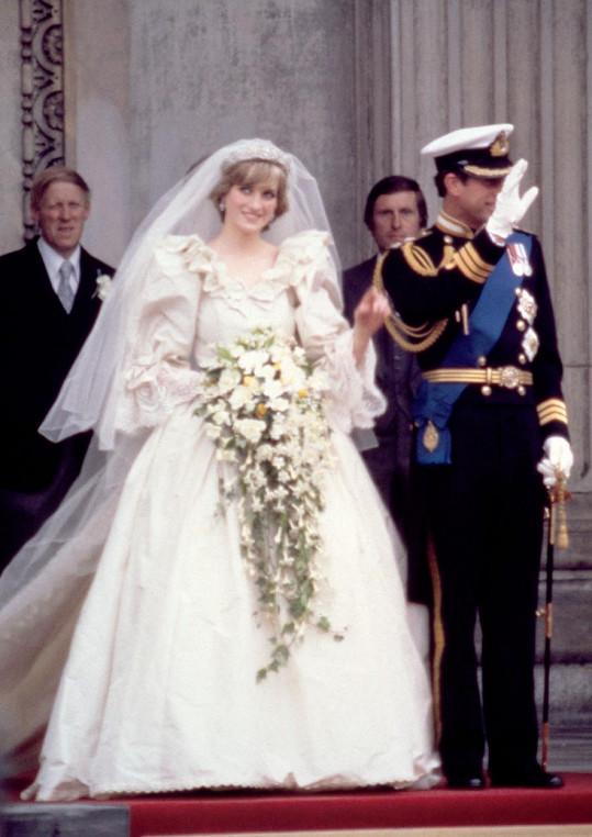 Lady Di a princ Charles ve svůj svatební den v červenci 1981