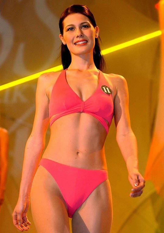 Jana Doleželová v době, kdy vyhrála Miss ČR (2004)