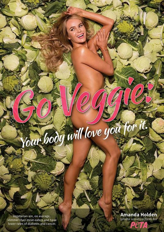 Amanda Holden propaguje veganství.