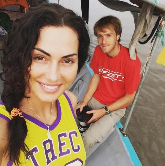 S přítelem Jakubem Vágnerem