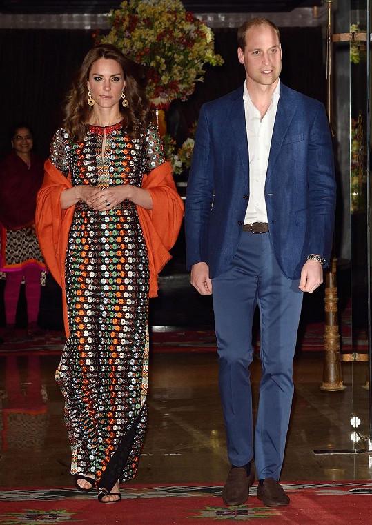 Britský královský pár ve čtvrtek povečeřel s tím bhútánským...