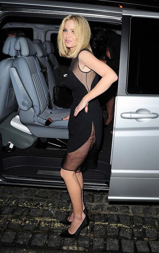 Sarah Harding vzbudila pozornost v odvážných šatech.