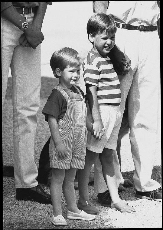 Harry (vlevo) a William v době, kdy byli ještě malí kluci.