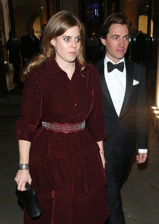 Pár se zúčastnil charitativní galavečeře v Národní portrétní galerii v Londýně.
