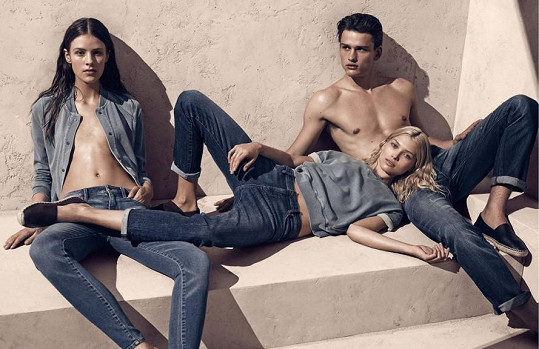 Hana v reklamě na džíny