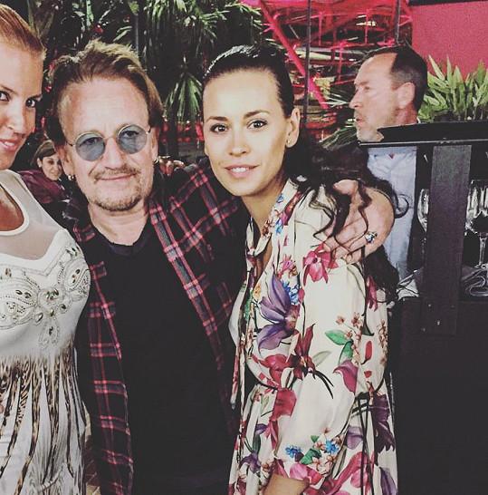 Votavová potkala v Monaku Bono Voxe.