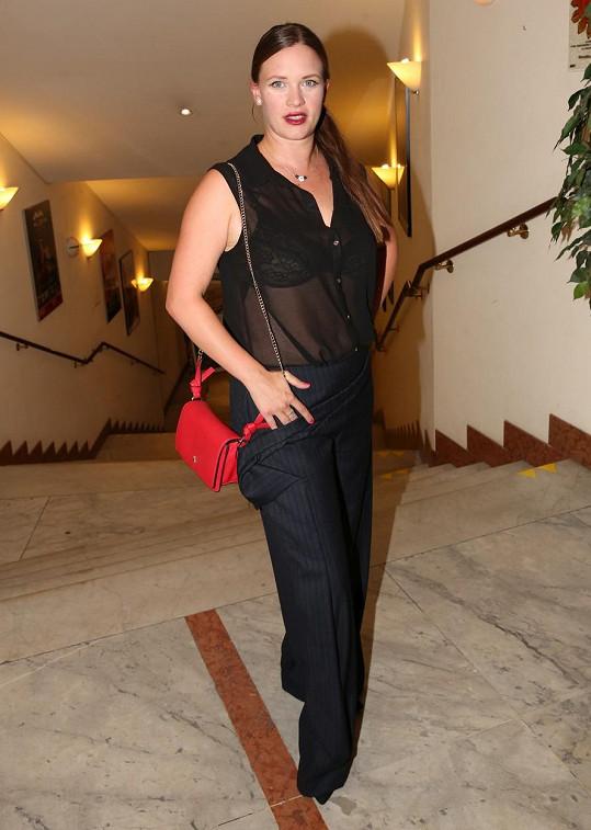 Kristýna Leichtová vyrazila poprvé po druhém porodu do společnosti.