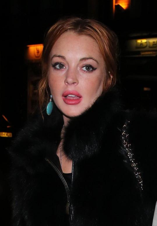 Lindsay Lohan v Londýně.