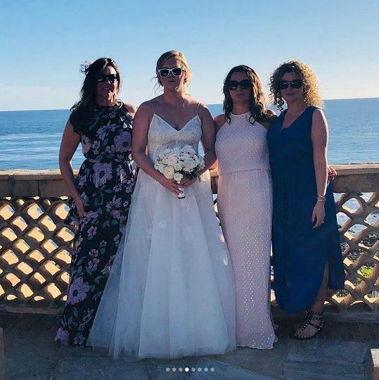 Amy si svatbu užila.