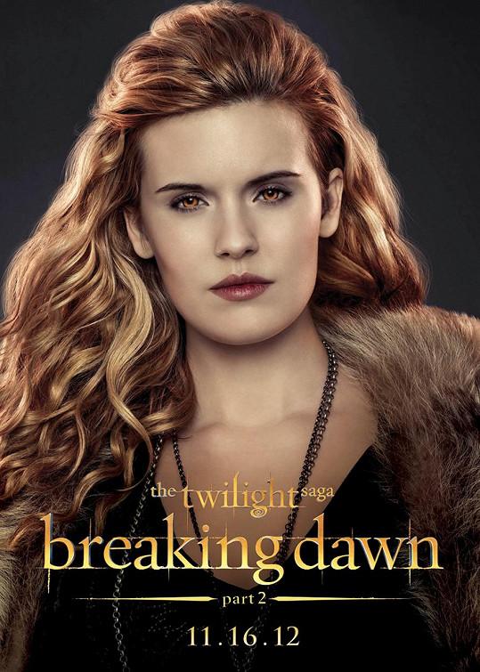 Herečka na plakátu k filmu Twilight sága: Rozbřesk - 2. část