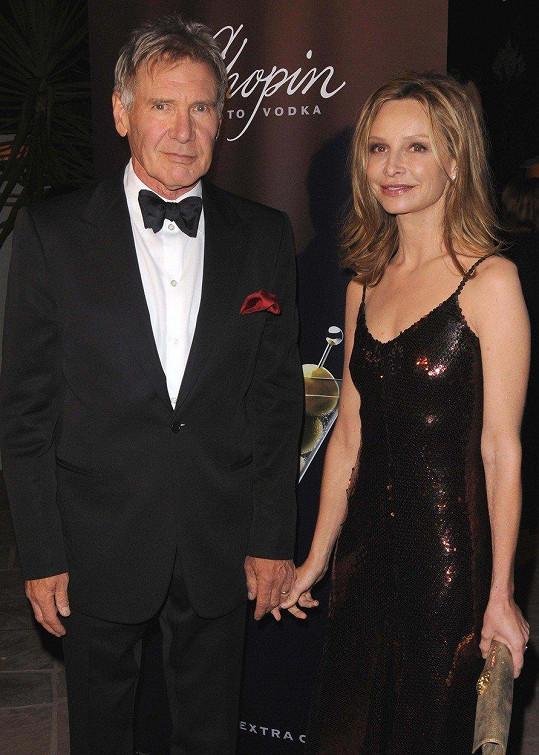 Herečka s manželem, hercem Harrisonem Fordem