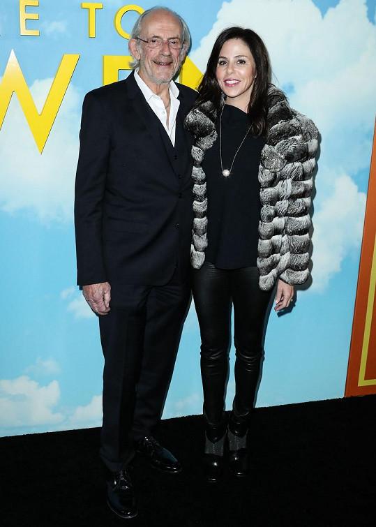 Christopher Lloyd s pátou manželkou Lisou Loiacono