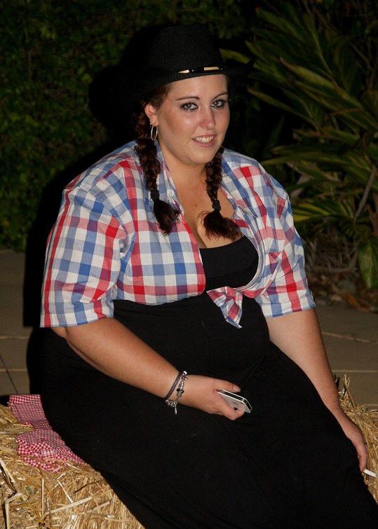 Sara Tuohey v roce 2012, kdy vážila 115 kilo.